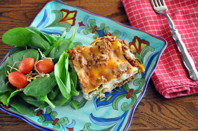 Healthy Meals to Fuel the Family, featuring Texas Beef – Week 3: Healthy Family Favorites, Beef, Arugula & Spinach Lasagna
