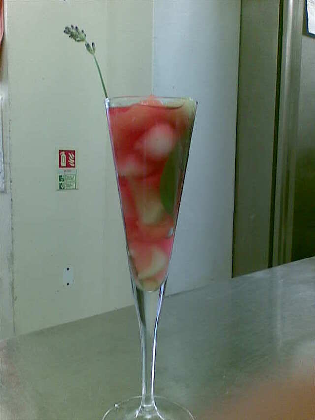 Galia Melon Pearls in Pink Champagne Jelly