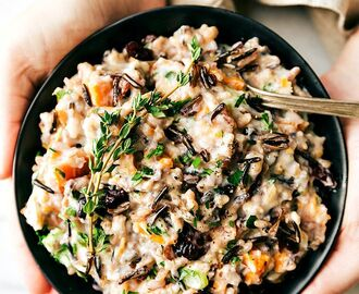 Crockpot Creamy Chicken and Wild Rice Casserole