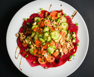 Farro Salad With Carrots, Beets, Cucumbers, and Feta