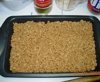 No Cook Scotcheroos - Peanut Butter Rice Crispy Treats