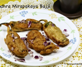 Mirapakaya Bajji ~ Chili Fritters ~ Andhra Recipes ~ Street Food
