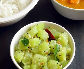 Chow Chow Poriyal | South Indian Chayote Squash