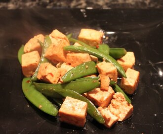 Asian Tofu and Sugar Snap Peas