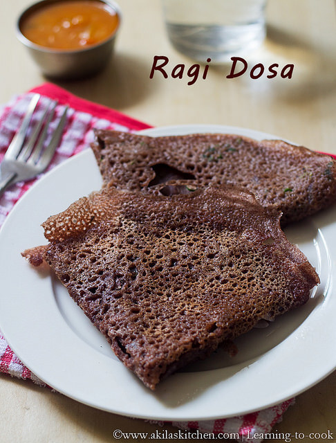 Instant Ragi Dosai | Ragi Recipes | Kezhvaragu Dosai | Finger Millet Recipes