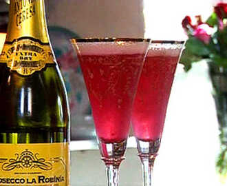 Leilas Prosecco cocktail