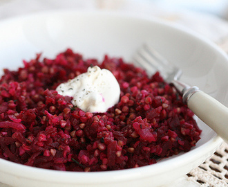Meatless Monday: Buckwheat with beets and dill