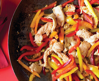 Stir-Fried Honey-Ginger Chicken with Peppers