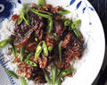 Soy-Braised Short Ribs With Sugar Snap Peas