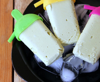 Avocado and Coconut milk Popsicle - Simple summer cooler - Vegan Popsicle recipe