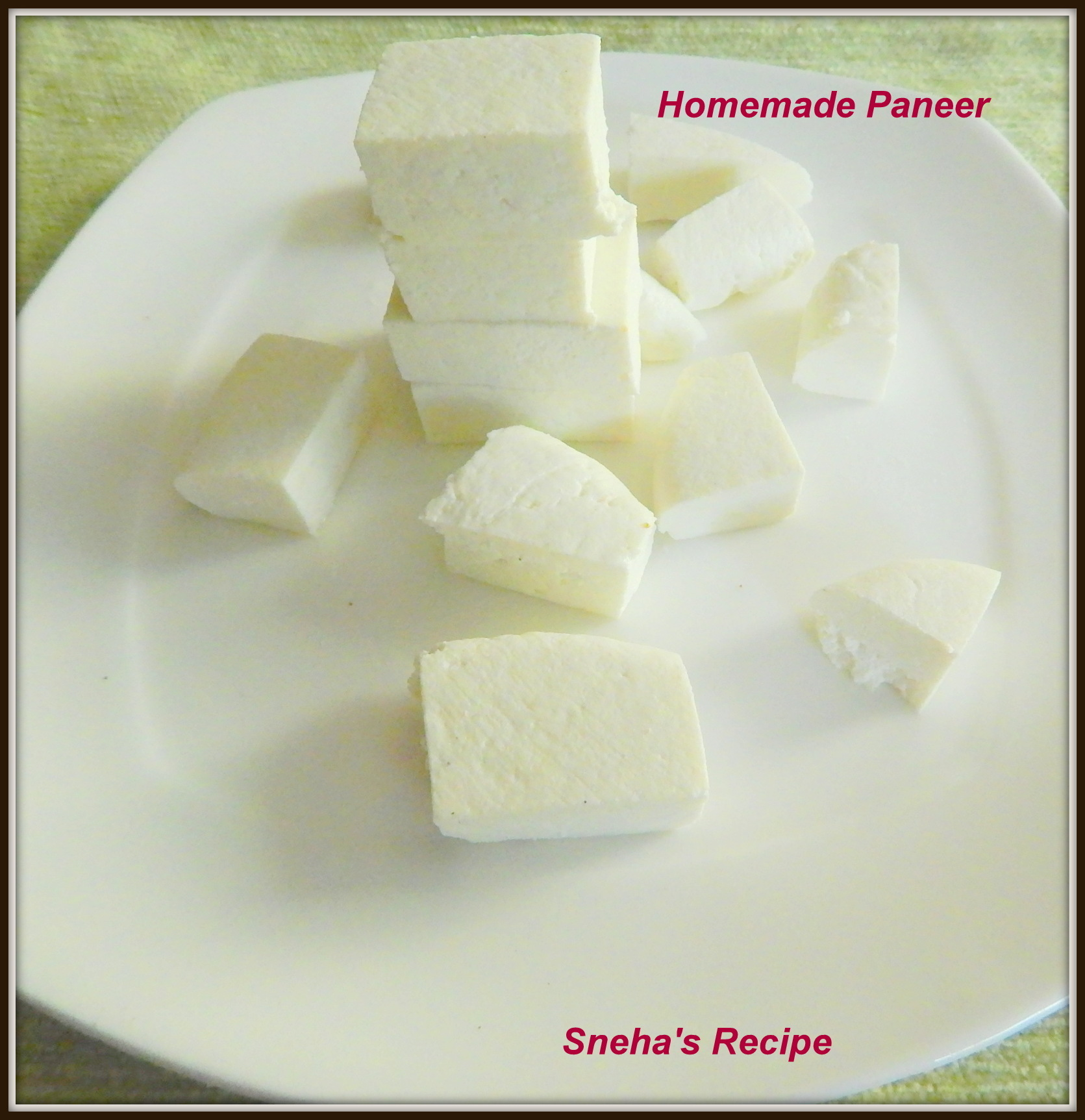 Homemade Paneer - How to Make Paneer ( Cottage Cheese) at Home