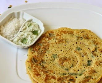 Varagu/Kodo Millet Adai with Drumstick leaves