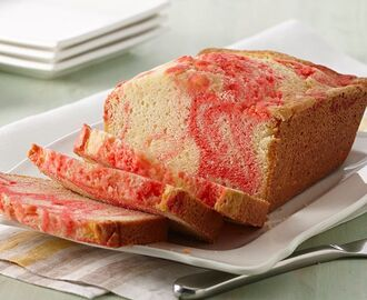 Lemon Pound Cake with Raspberry Swirl