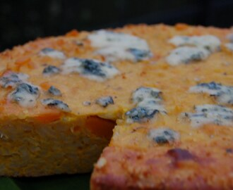 Butternut Squash Frittata with Risotto and Blue Cheese