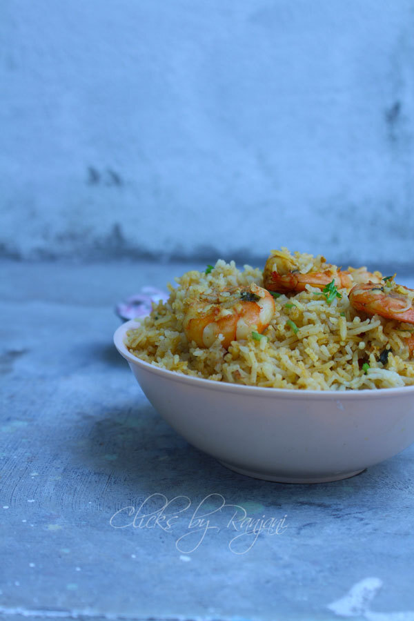 Prawn Biryani Recipe / Eral Biryani Recipe
