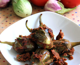 Stuffed brinjal recipe - Stuffed eggplant recipe - Side dish recipe