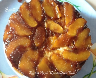Eggless Apple Upside Down Cake