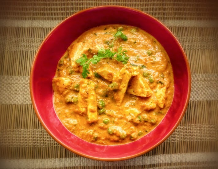 Matar Paneer ( Peas and Cottage cheese Curry)