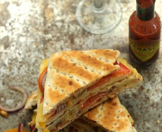 Vegetable Cheese Grilled Sandwiches: Indian Street Style