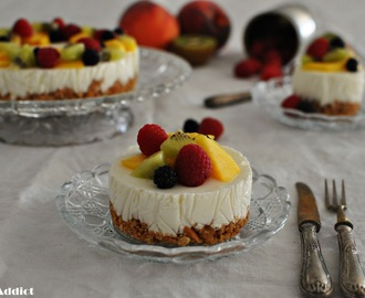 CHEESECAKE (sin horno) DE YOGURT Y FRUTAS