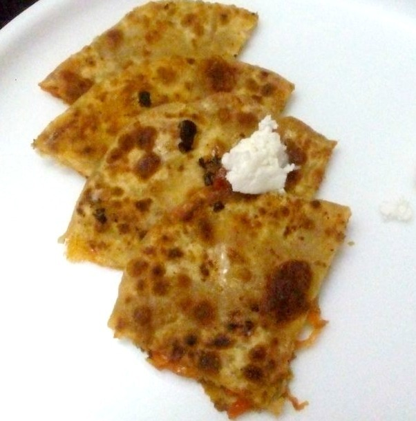 Carrot Cheese Paratha Recipe – Easy Lunch Box Recipe
