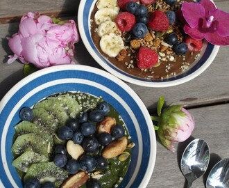 2 smoothie bowls