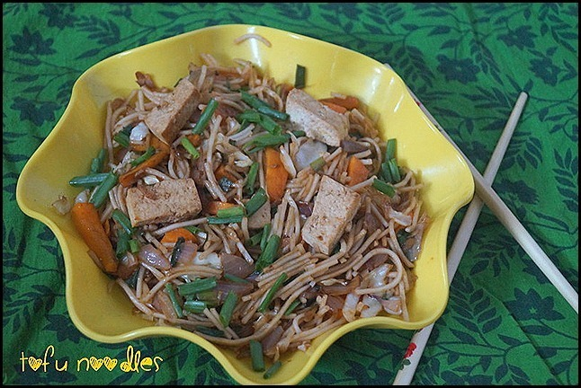 TOFU NOODLES/SOYA RECIPES