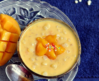 Mango Sago Recipe(Mango Tapioca Pearls Pudding Recipe)-Mango Dessert Recipes