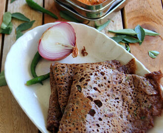 Instant Ragi Dosa Recipe - Healthy Breakfast, dinner recipes - Diabetic friendly recipes