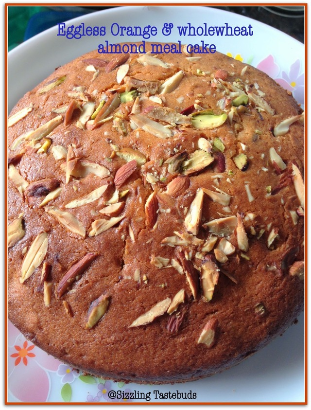 Eggless Orange & Wholewheat almond meal tea cake | Fire up your oven - April Baking Marathon - Day 1