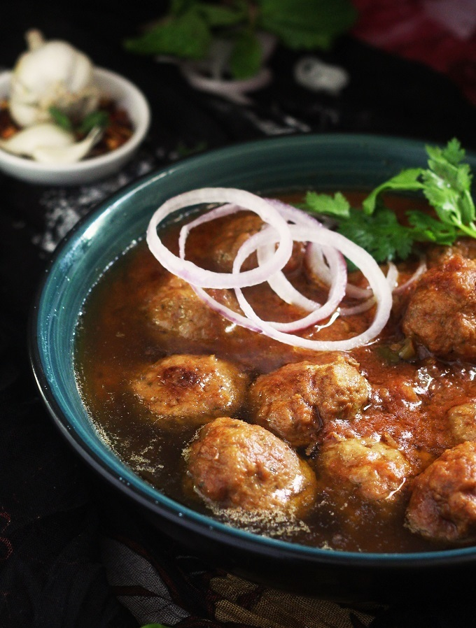 Mutton Kofta Curry, Indian Meatball Curry recipe