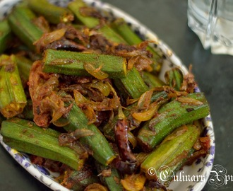BHINDI DO PYAZA- OKRA STIR FRIED IN ONION & TOMATOES