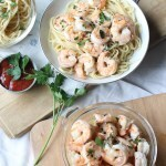 Quick Shrimp Linguine with Garlic-Lemon Butter