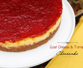 Cheesecake de Tomate e Queijo de Cabra | Goat Cheese and Tomato Cheesecake
