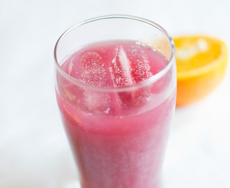pomegranate orange juice - summer drinks