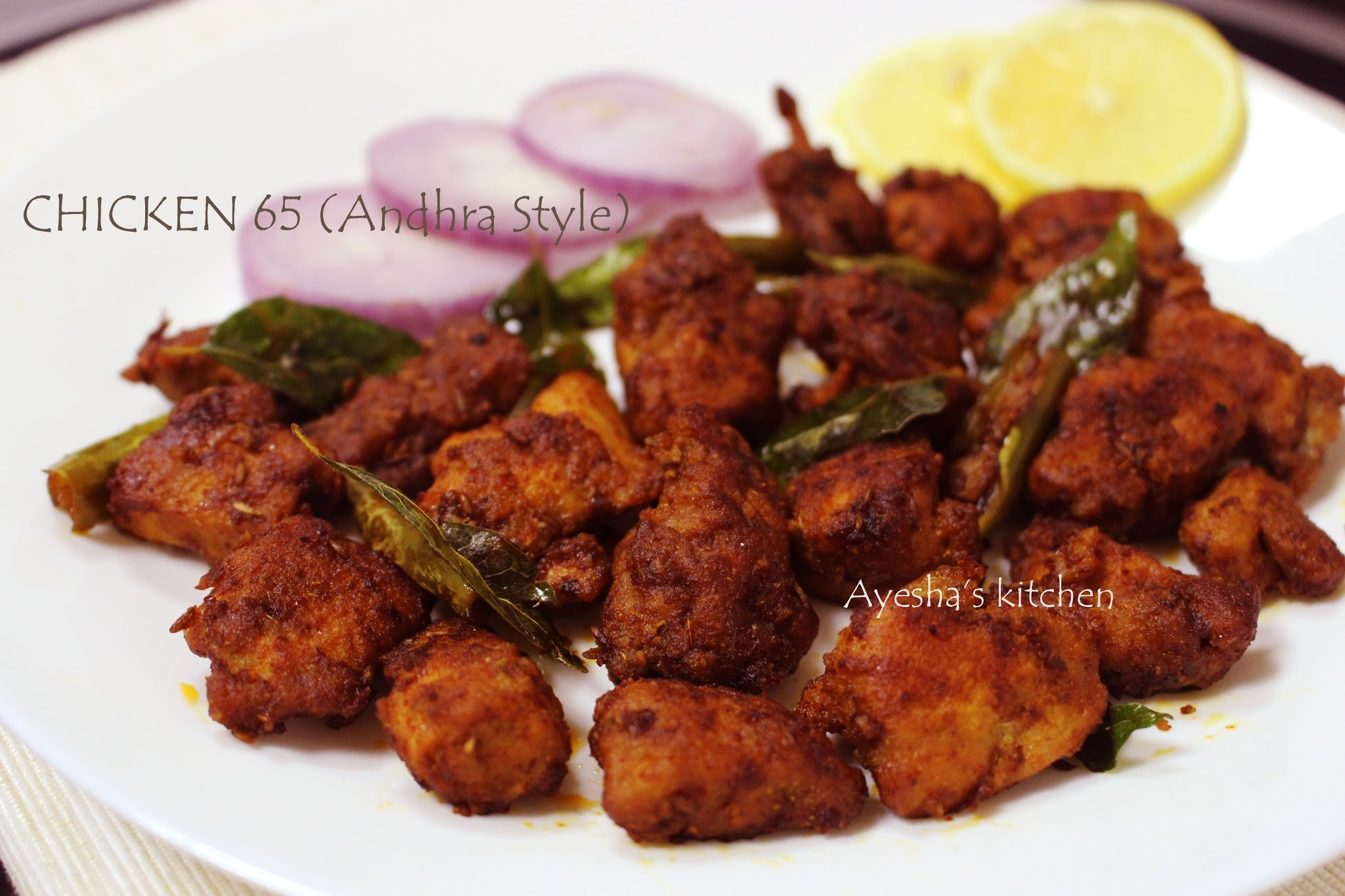 CHICKEN 65 RECIPE - HOW TO MAKE CHICKEN 65 ANDHRA STYLE