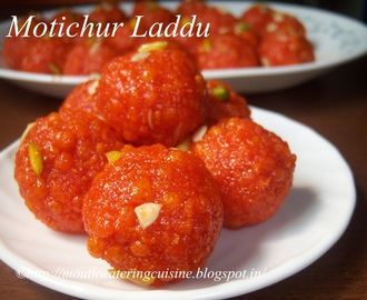 Motichur Laddu Recipe -- How to make Motichur Laddu Recipe