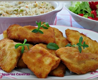 Filetes de pescada com arroz de ameijoas