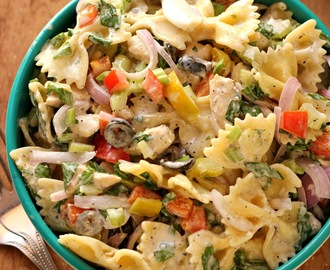 Chicken Pasta salad with creamy mayo dressing