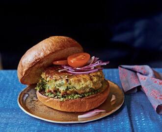 Mumbai-Style Chicken Burger by Cyrus Todiwala