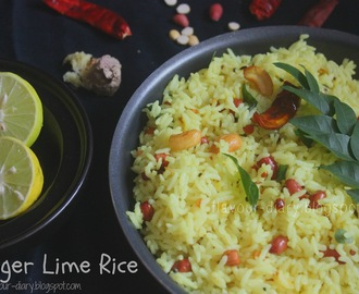 Ginger Lime Rice | Lemon Rice