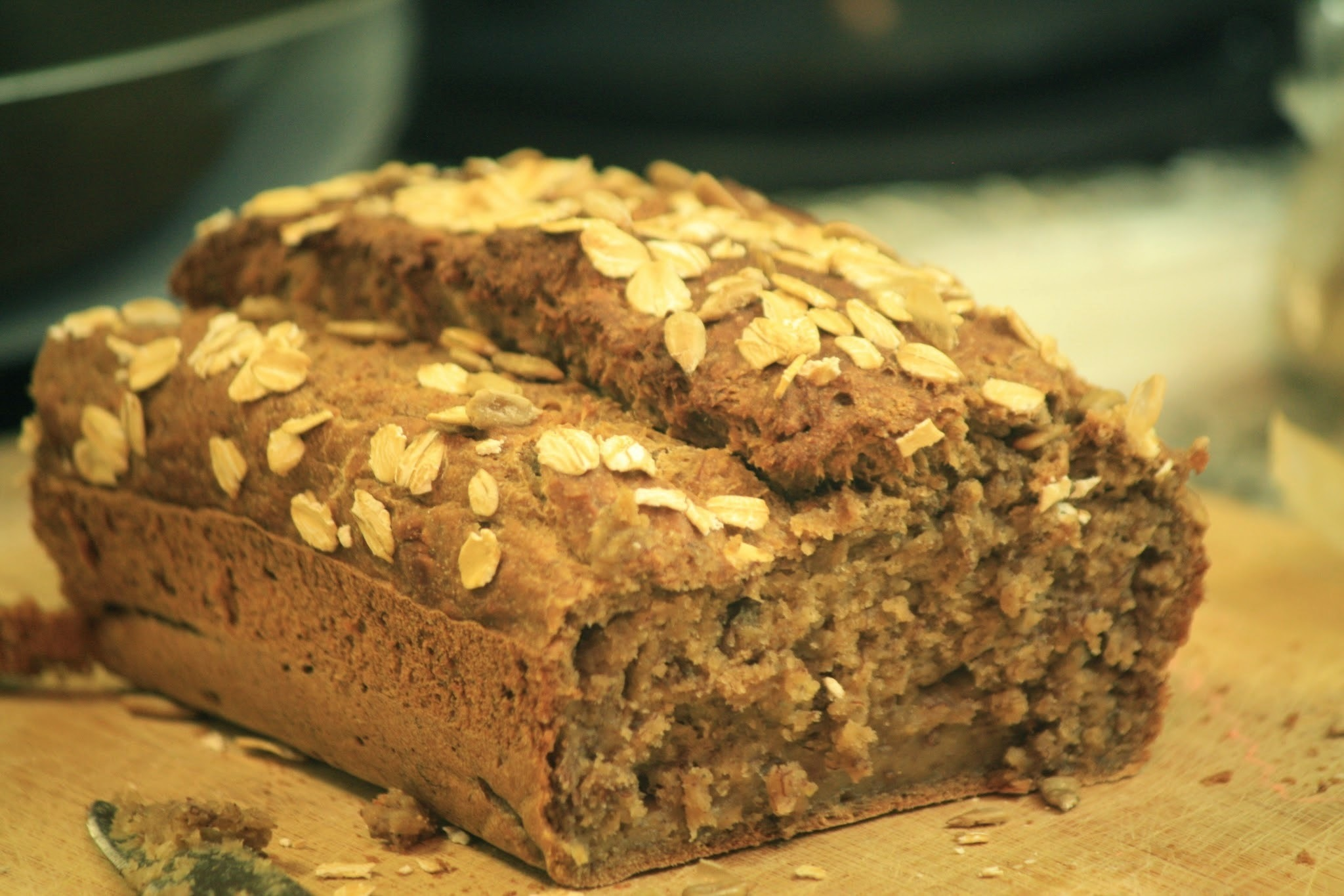 Eggless Banana Bread with Chia Seeds