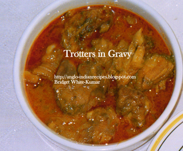 CURRIED TROTTERS OR TROTTERS IN GRAVY - AN ANGLO-INDIAN DELICACY
