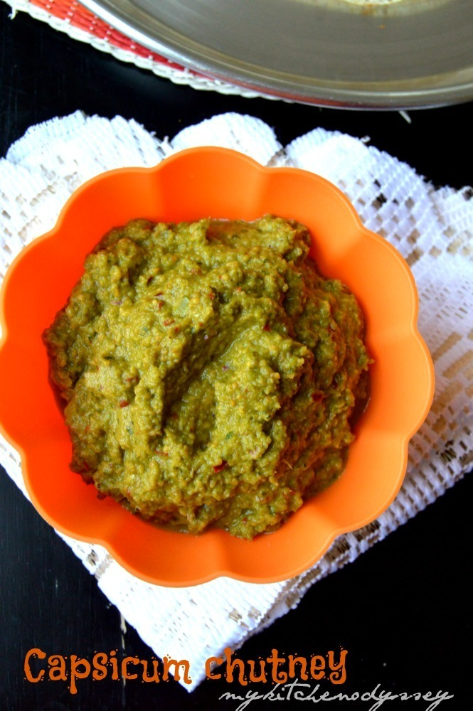 South Indian Capsicum Chutney | Idli Dosa Side Dish