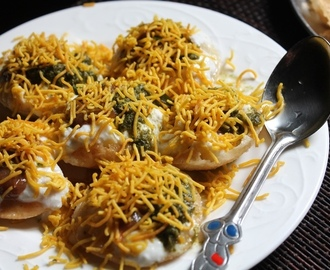 Easy Dahi Puri Recipe / Dahi Puri Chaat Recipe / Dahi Sev Puri Recipe
