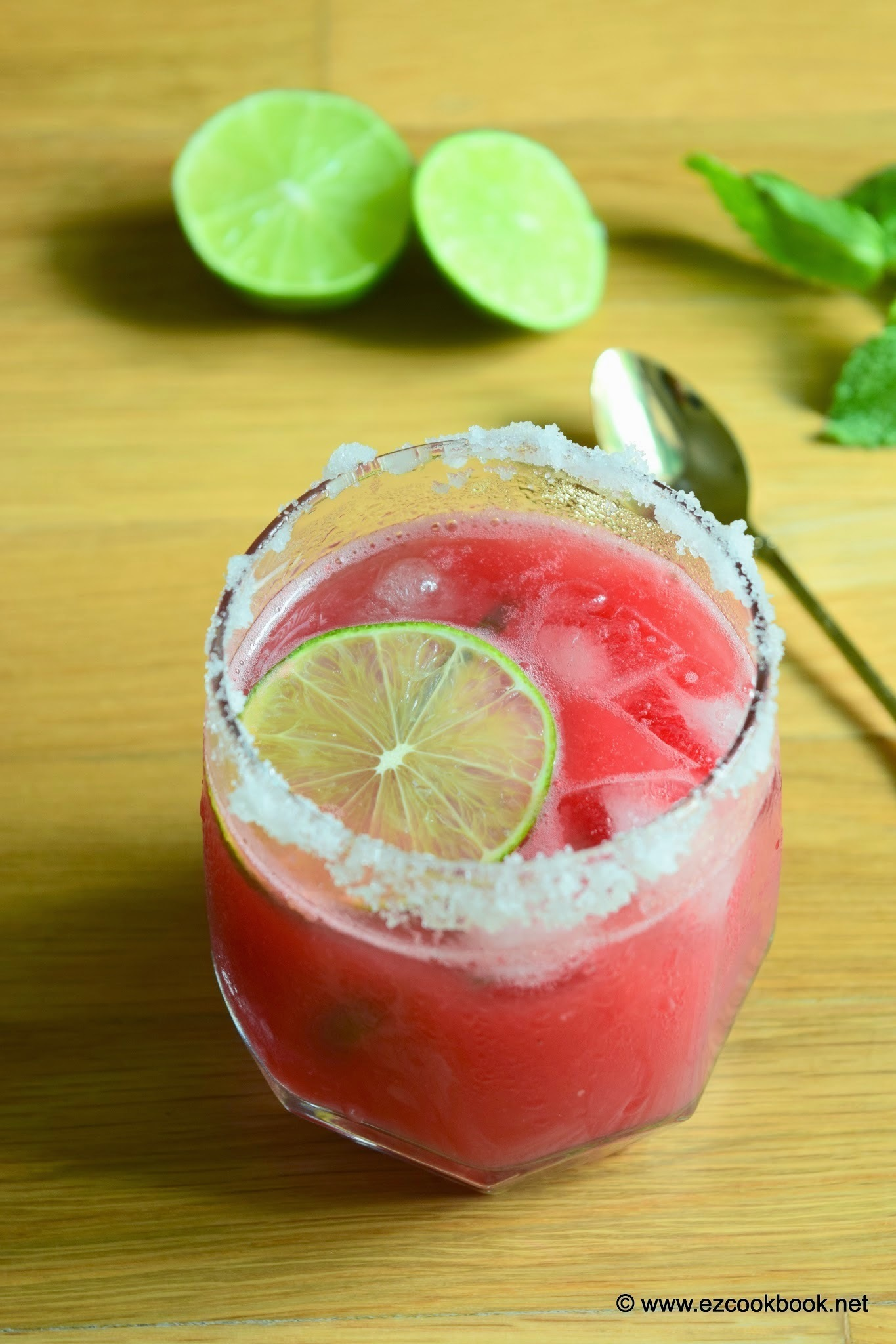 Watermelon Margarita Mocktail Recipe