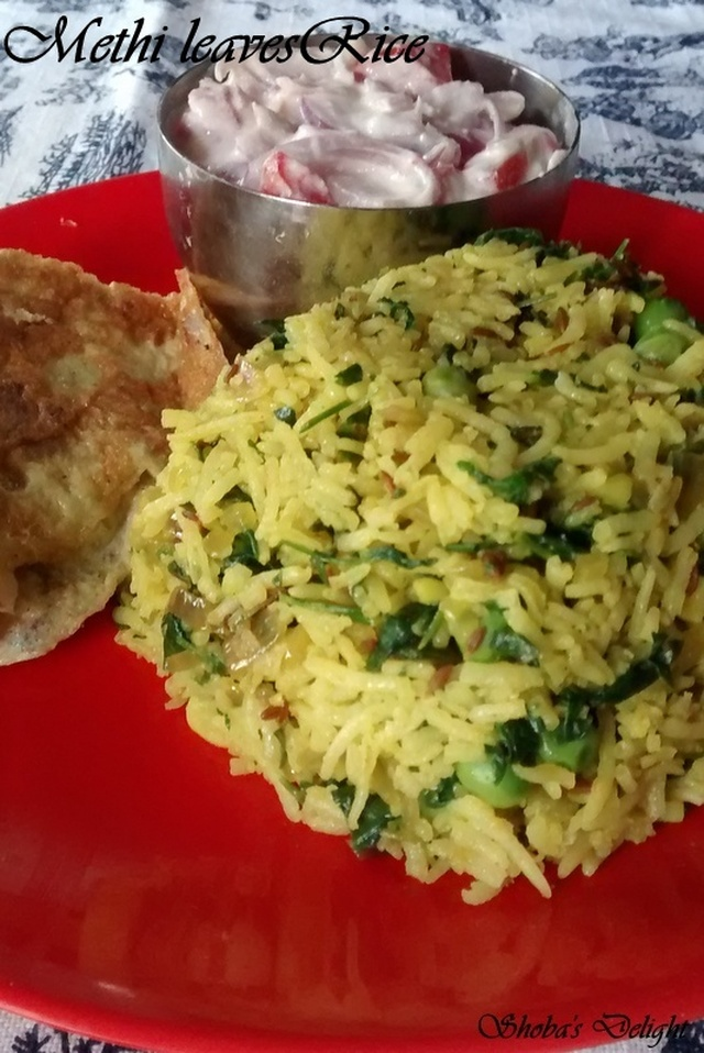 Methi Rice (Vendhaya Keerai Sadam)