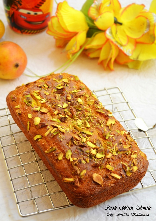 EGGLESS MANGO CAKE RECIPE / EGGLESS MANGO LOAF BREAD