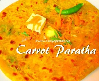 Carrot Paratha / Easy Carrot Paratha Recipe - Video Recipe