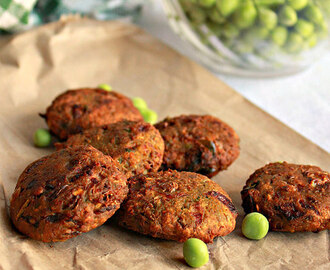 Green Peas Vada, How To Make Peas Vada, Fritters